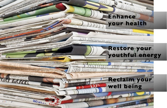 Image of Stack of Newspapers