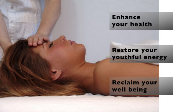 Photo of a Reiki session